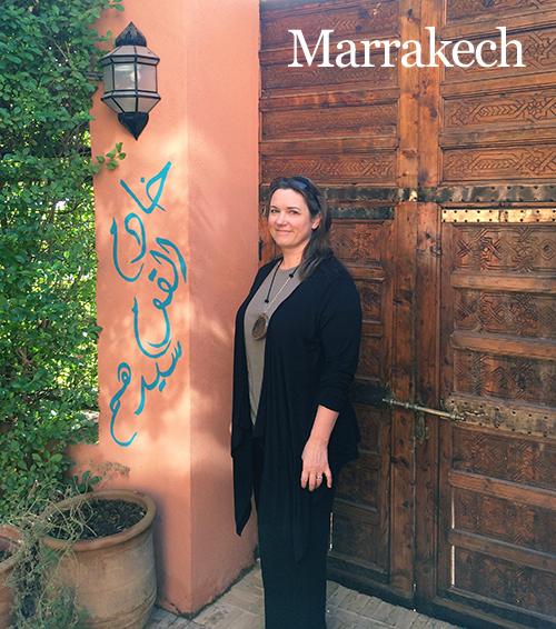 Deb at Amal Center in Marrakech