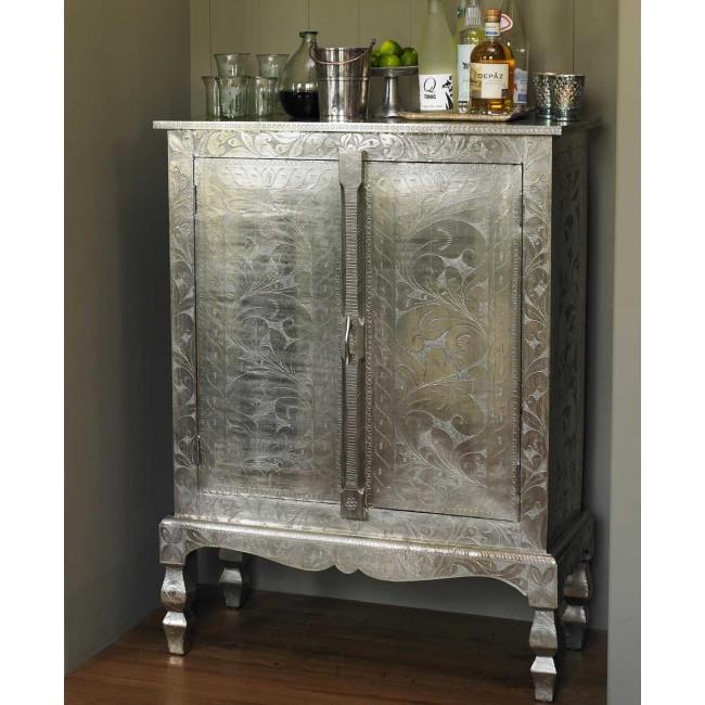 Silver Etched Cabinet at Viva Terra | Nomadic Decorator