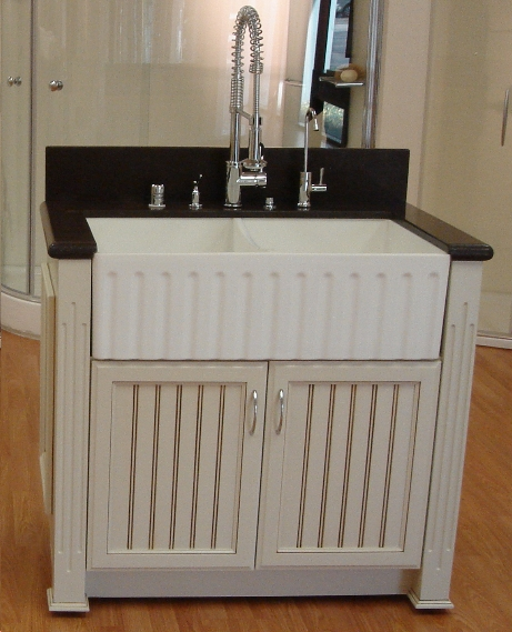 Farmhouse Sink In A Vanity Nomadic Decorator