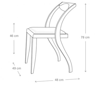 Chair Picture Drawing Dining Chair Super Duper Curvy