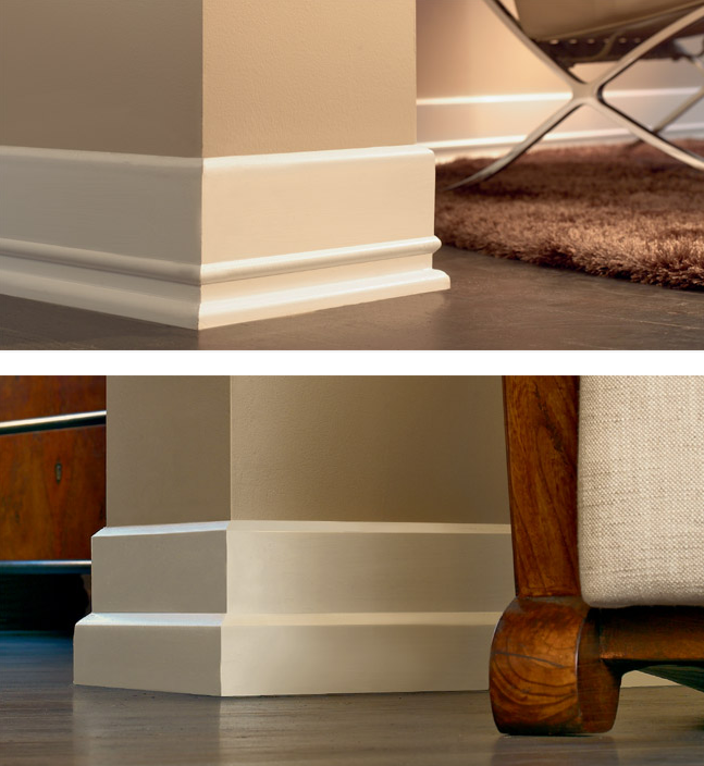 Tile skirting vs wood baseboard molding nomadic decorator Modern floor molding