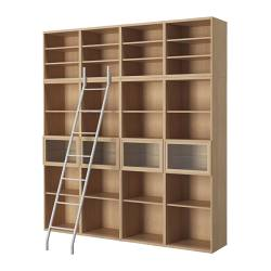 Bookcase With Library Ladders Ii Nomadic Decorator