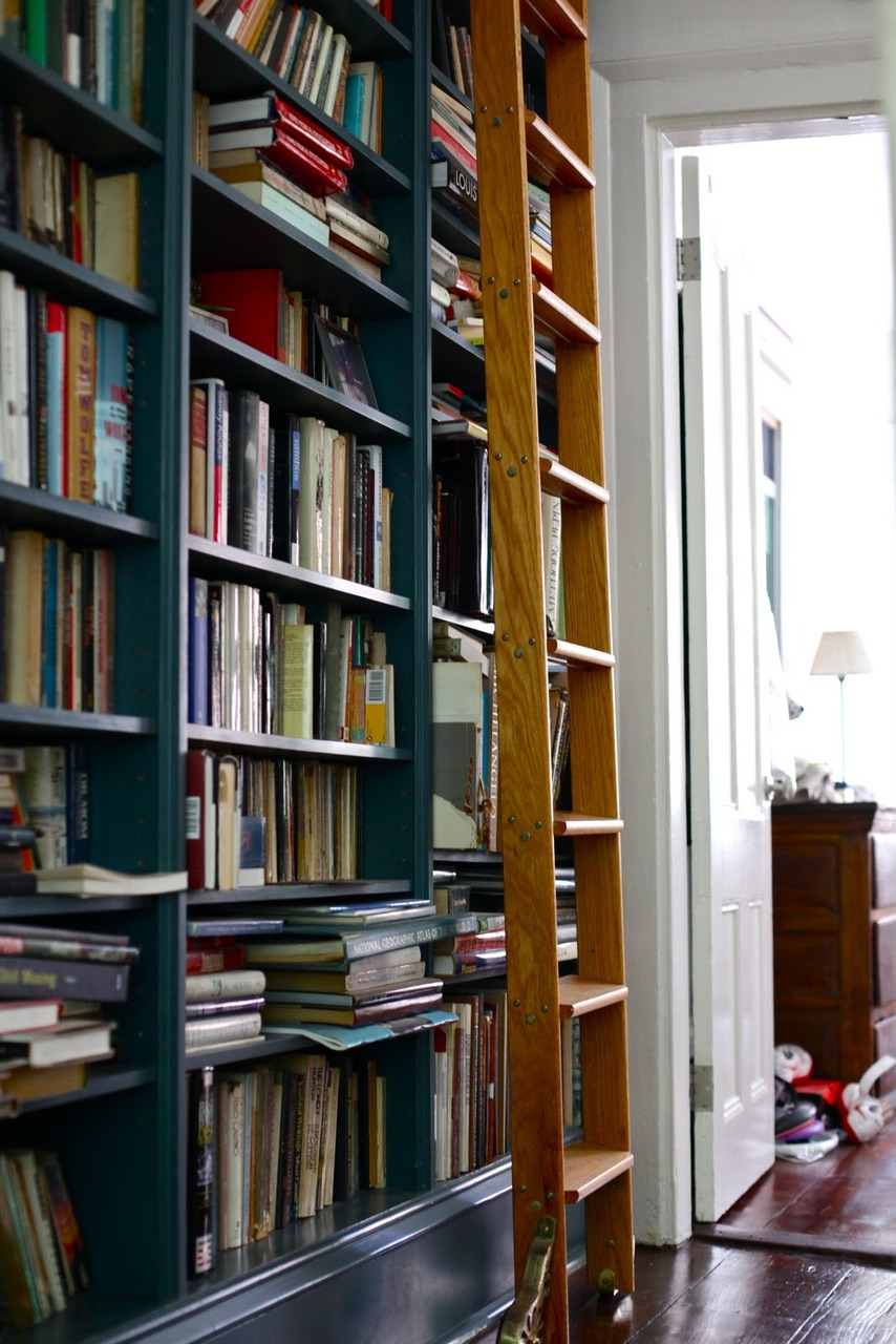 Bookcase with Library Ladders II – Rolling Ladders for Bookcases