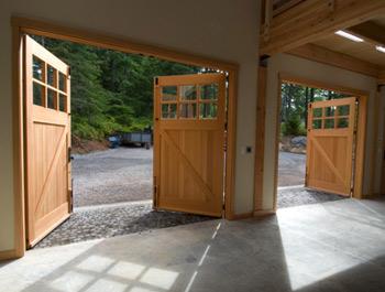 swing out garage doorsBeautiful Garage Doors  Nomadic Decorator