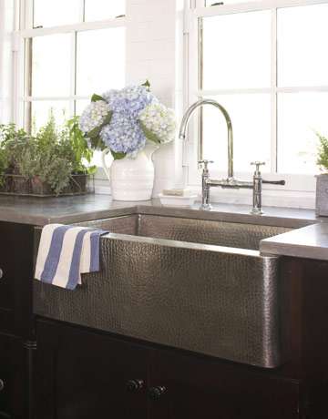 Stainless Country Sink : Farmhouse Sink stainless via Country Living