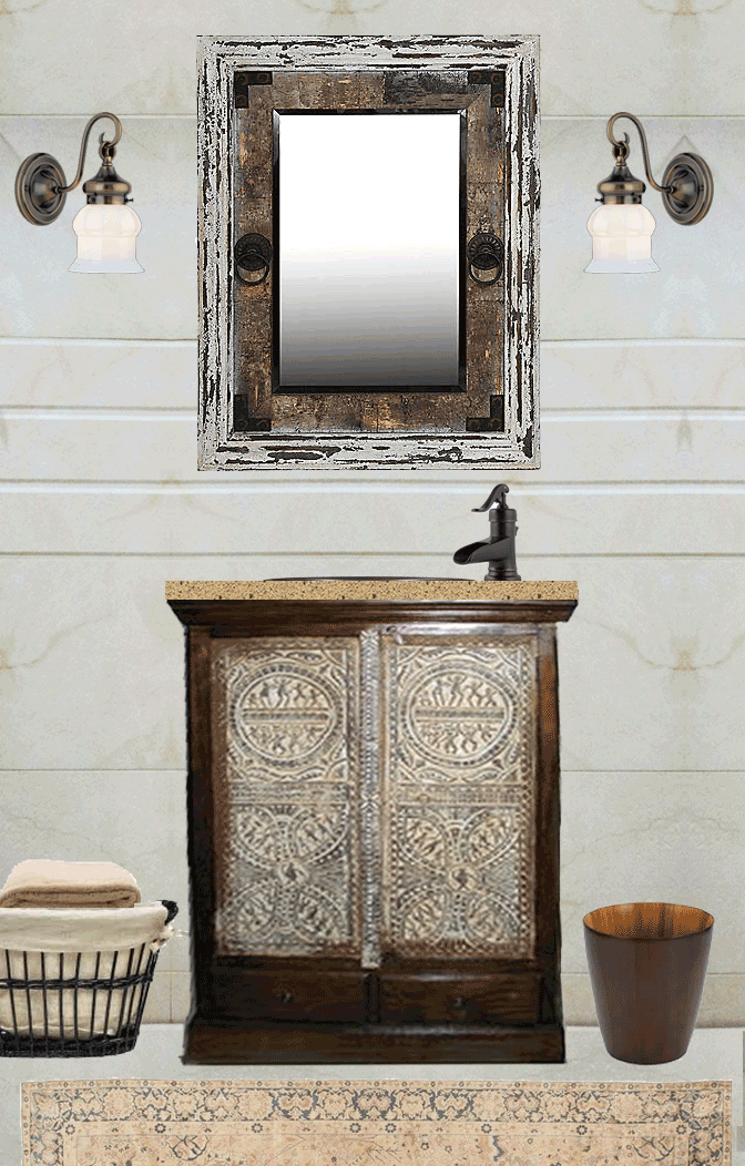 India Master Bath Vanity Mirror Faucet Vision Nomadic Decorator
