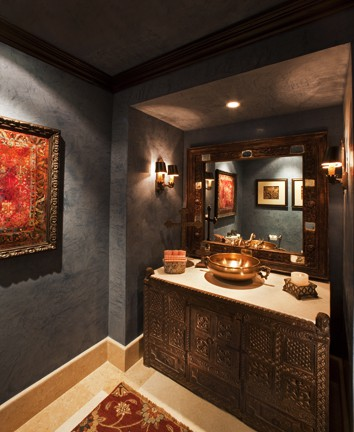 Inspiration for Bathroom Vanity Fashioned from India Antiques ...
