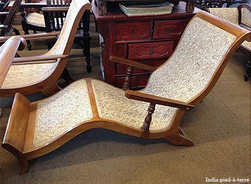 Teak Lounge Chair from Kerala