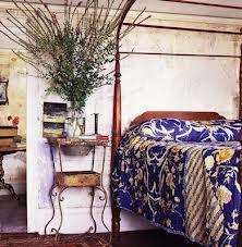 Vintage Sari Fabric on John Derian Bed