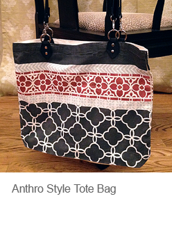 DIY Anthro Style Tote Bag with Paint and Stencils