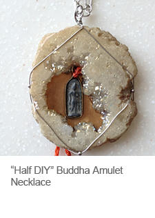 DIY Buddha Amulet Necklace in Agate Stone