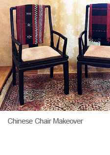 Chinese Chair Makeover with Paint and Paperclay