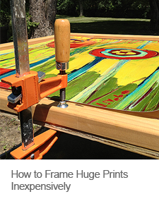 How to Frame Huge Prints Inexpensively