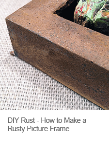 DIY Rusted Objects