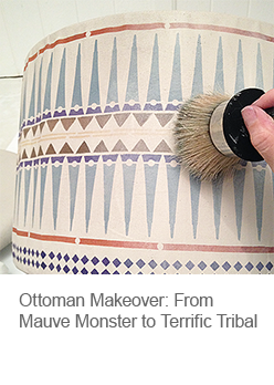 DIY Ottoman Makeover with Stencils and Paint