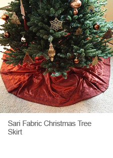 Sari Fabric Christmas Tree Skirt