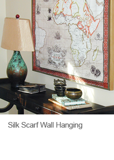 DIY Silk Scarf Wall Hanging