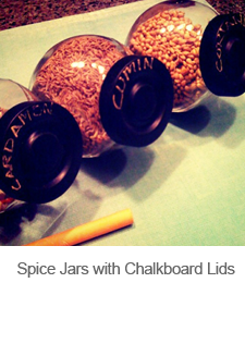 DIY Spice Jars with Chalkboard Lids
