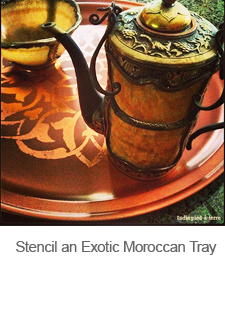 DIY Stenciled Moroccan Tray