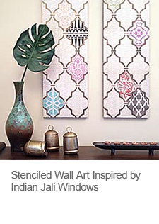 DIY Stenciled Wall Art with Scrapbook Paper