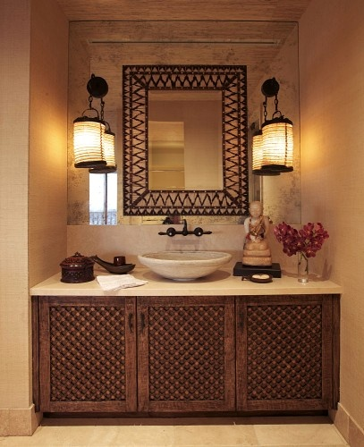 Home Design Ideas Hindi: Must Make: An India-Inspired Carved Wood Bathroom Vanity