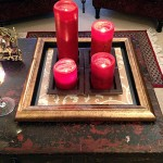 DIY Coffee Table Tray with Picture Frame and Scrapbook Paper