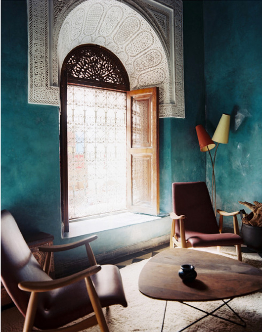 THAT Blue in Morocco via Lonny Magazine