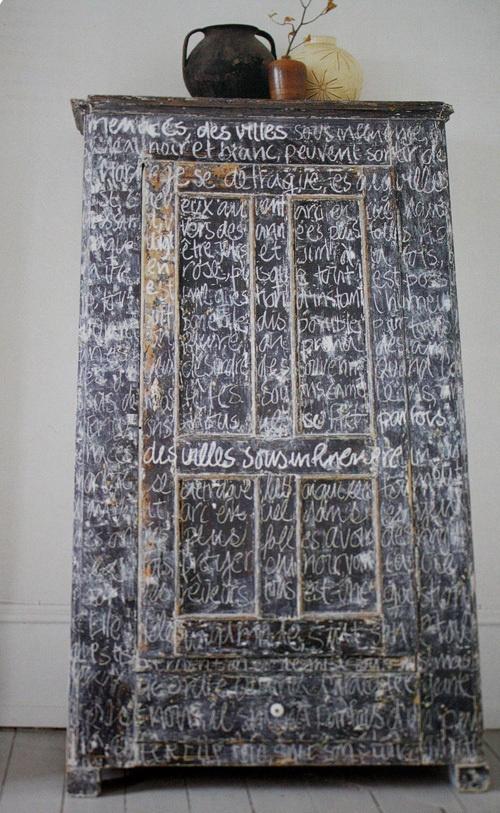 Chalkboard Cabinet via vtwonen
