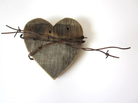 Heart and Barbed Wire via Sadie Olive