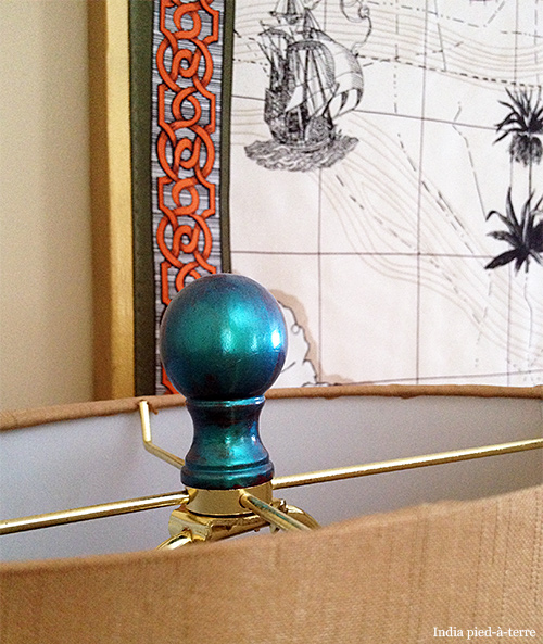 Blue-Nail-Polish-Painted-Lamp-Finial