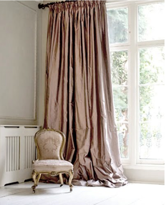 Dusty Pink Curtains Found at A White Carousel
