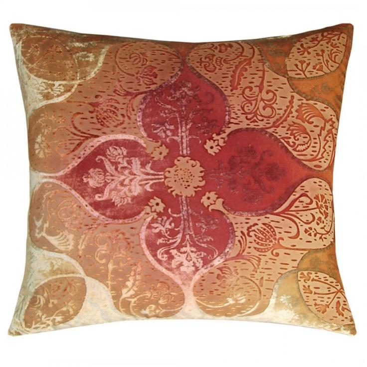 Dusty Pink Persian Decorative Pillow Kevin O'Brien Studio