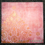 """DIY """"Art Square"""" with Patterned Paper and Stencil"""
