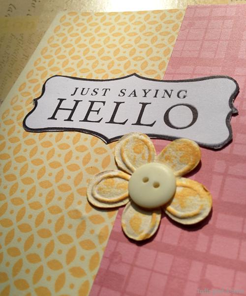 Handmade Scrapbook Paper Card