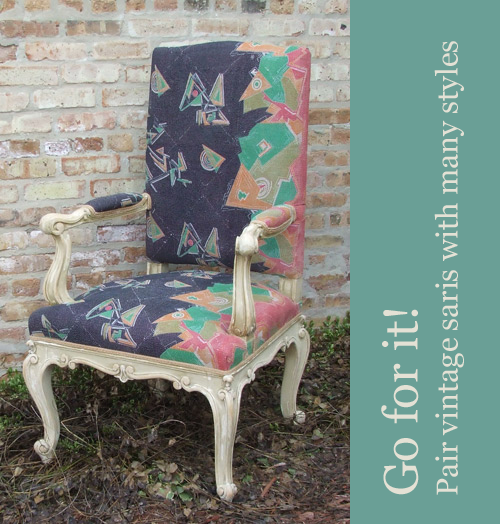 Vintage-Sari-Fabric-and-Italian-Chair-at-Maison-Suzanne
