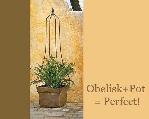Obelisk-and-Square-Pot