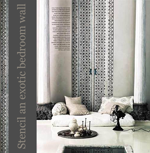 Stencil-an-Exotic-Bedroom-Wall