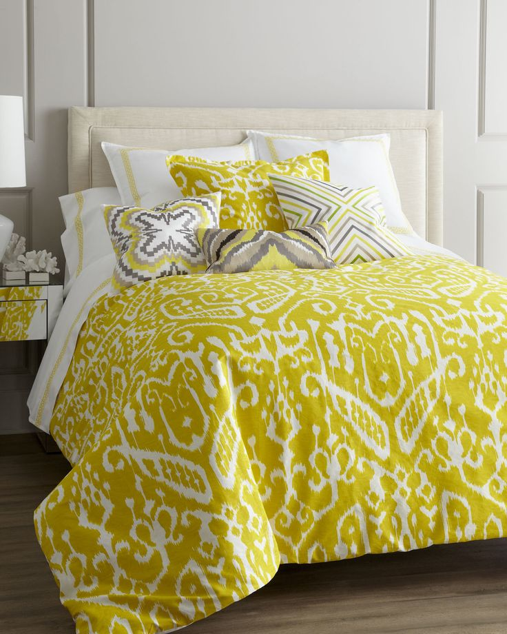 Chartreuse Trina Turk Bed Linens at Horchow