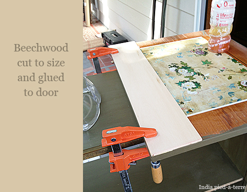 Beechwood Frame Added to Door