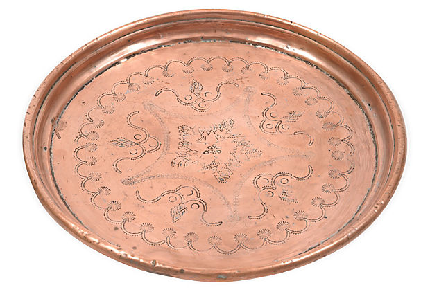 Copper Moroccan Tray from One Kings Lane