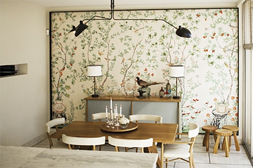 Framed de Gournay Wallpaper via Charlotte Home+Garden