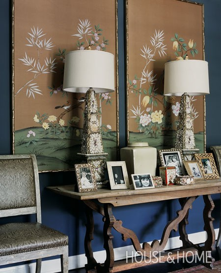 Framed Wallpaper Panels via Canadian House and Home