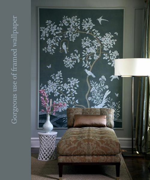Framed Wallpaper via Jessica Lagrange Interiors
