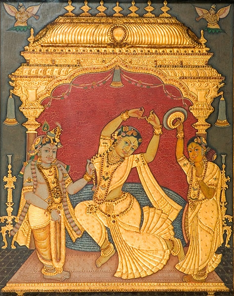 Indian Tanjore Painting via Triveda