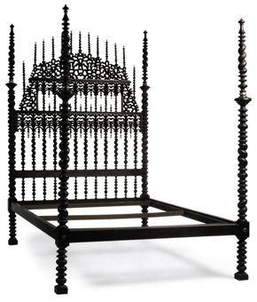 Late 19th Century Portuguese Ebonized Bed from Christies