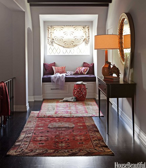 Layered Rugs via House Beautiful