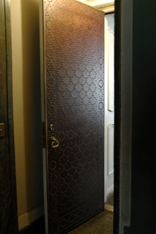 Nail Head Pattern on Leather Door