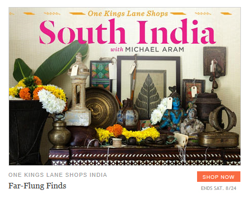 One Kings Lane Shops South India