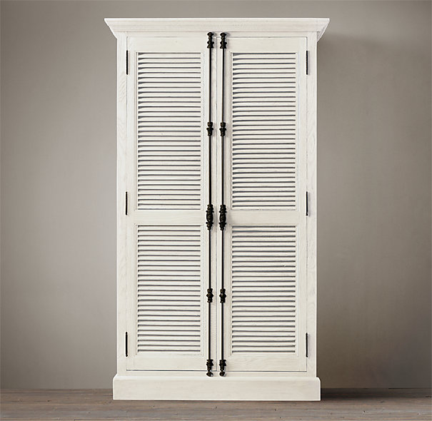 Restoration Hardware Shutter Door Cabinet with Cremone Bolts