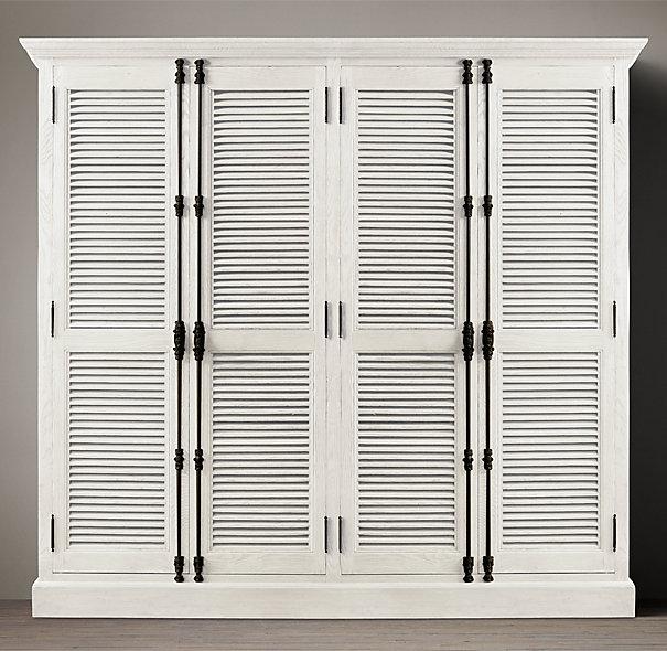 DIY Shutter Door Wardrobe India pied-à-terre Idea u0026 Restoration Hardware Knock-Off   Nomadic Decorator & DIY Shutter Door Wardrobe: India pied-à-terre Idea u0026 Restoration ...